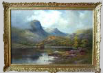 Breanski painting of Ben A'An and Loch Katrine