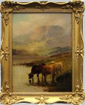 Breanski painting of Highland Cattle