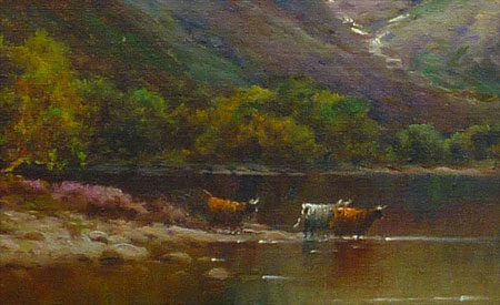 Detail from painting Loch Shiel and the Hills of Glenfinnan by Alfred Fontville de Breanski Jnr