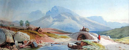 Detail from Ben Nevis by Charles Frederick Buckley