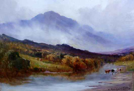 Detail from Cattle in Arran by Henry Hadfield Cubley