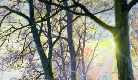 Detail from Autumn Trail by David Dipnall