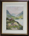 John Shirley Fox painting Sheep by a Lochside