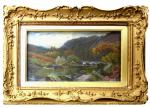 Louis Bosworth Hurt painting of Highland River in Autumn