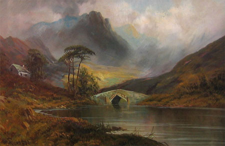 Detail from Ross-Shire Glen by W Richards (alias Francis E Jamieson)