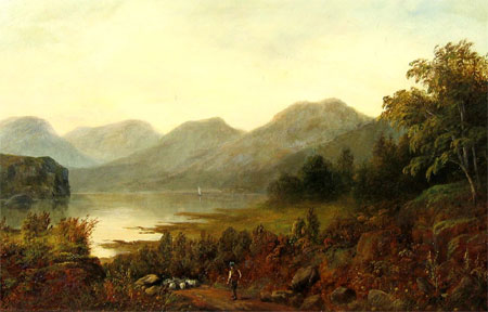 Detail from Derwentwater by C Frater (alias F E Jamieson)