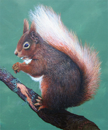 Detail from Squirrel by George Kitching