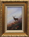 Leslie Lamb painting of Highland Monarch