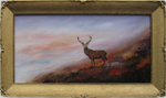 Leslie Lamb painting of Gairloch Red Stag