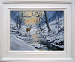 Leslie Lamb painting of Morning snow by Loch Maree