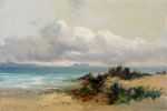 William Langley painting of Coastal scene with sand dune
