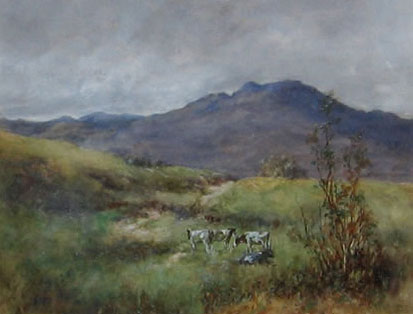 Detail from Cattle in the Hills by Norman McDougall