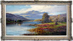 William McGregor painting Loch Lomond near Inversnaid