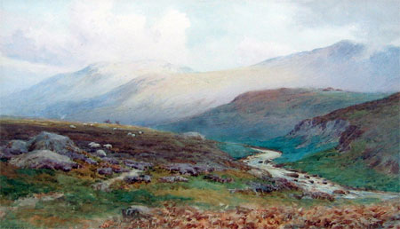 Detail from Westmorland Fells by E H Morten