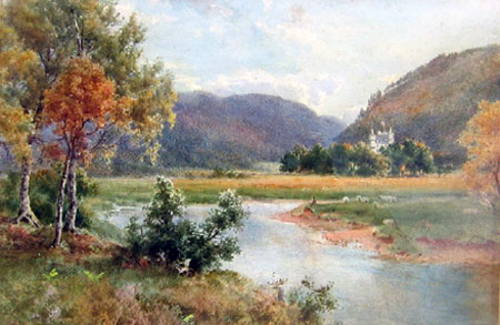 Detail from The River Dee and Balmoral by John Benjamin Ottewell