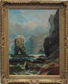Clarence Roe painting of Wild Coastal Scene