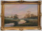 Hilary Scoffield painting of Misty River