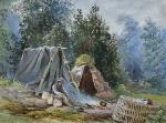 Ellen Vernon painting of The Peat Maker