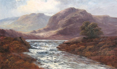 Detail from Dunkeld Perthshire by Frank Walters