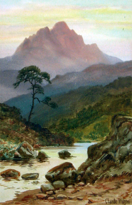 Detail from Mountain Stream by Claude Wilson