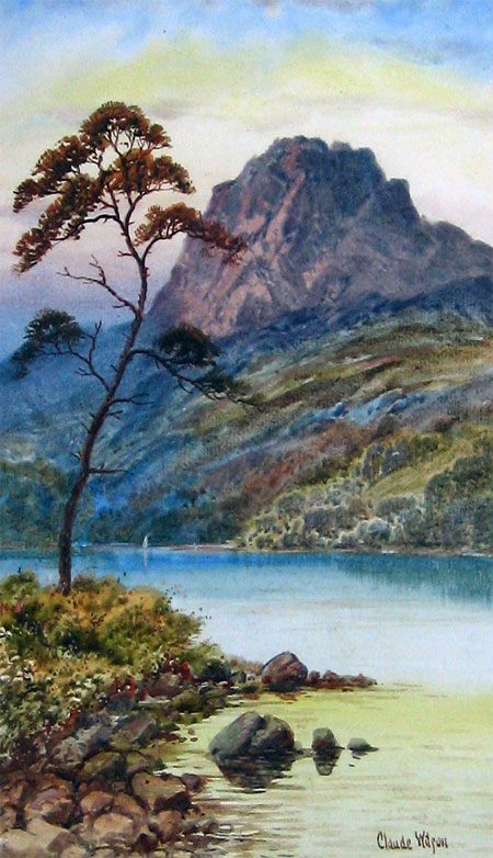 Detail from Mountain serenity by Claude Wilson