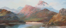 Highland landscape painting by Prudence Turner